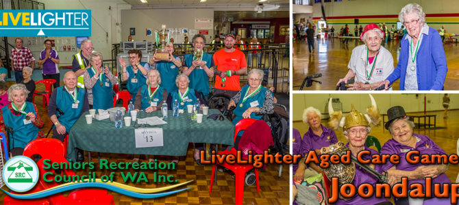 103 and 102 year olds fight it out at the SRCWA LiveLighter Aged Care Games in Joondalup.