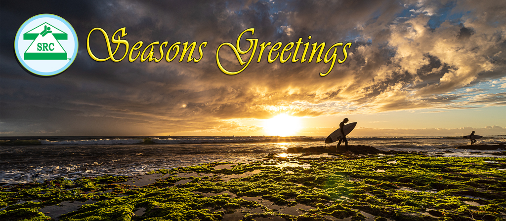 Seasons Greetings, Tom's Beach Sunset –  On warm summer evenings surfers leave the water as the sun sets at North Beach Western Australia, it's the perfect place for a long walk or to sit relax and take in the view. Original image by Martin B Yates