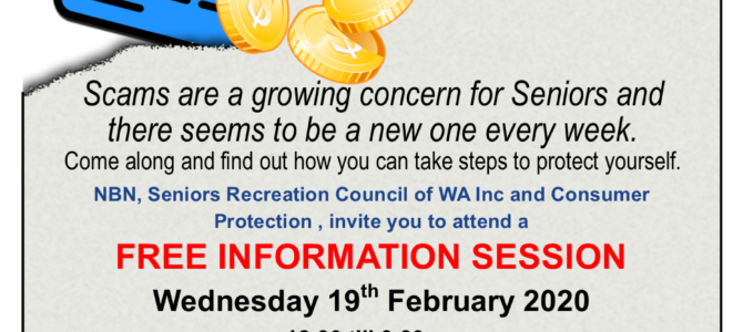 Free SCAMS Information Session – Scarborough