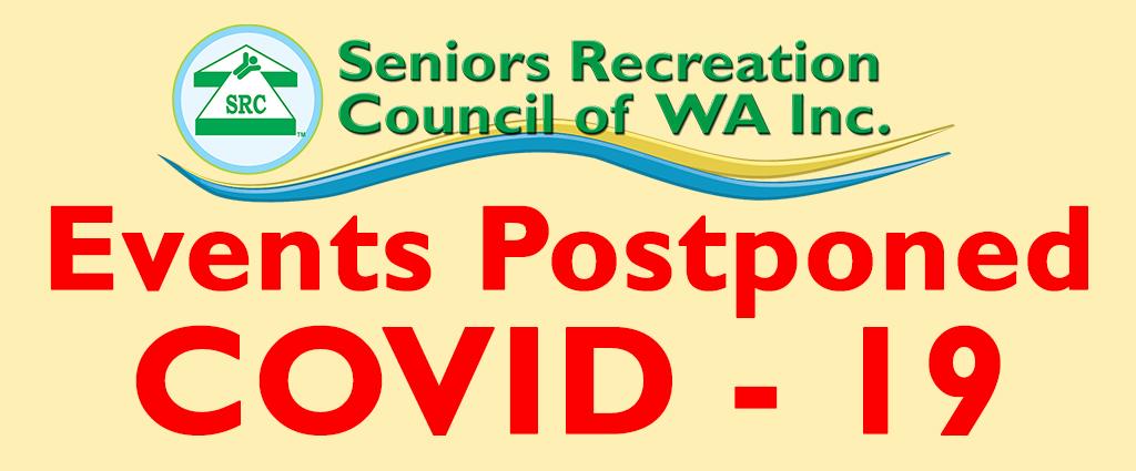 SRCWA Events Postponed due to COVID 19 (Coronavirus)