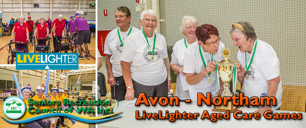 Teams come from near and far to the SRCWA Avon (Northam) LiveLighter Aged Care Games