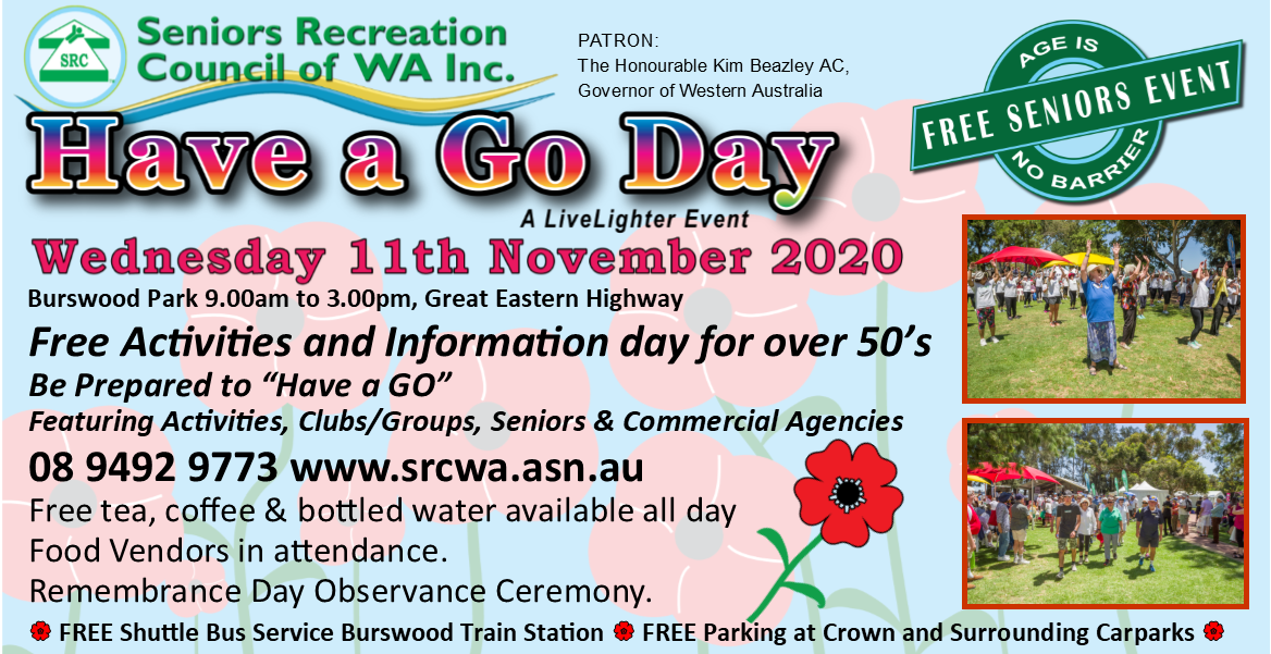 Have a Go Day 2020 a LiveLighter Event Wednesday 11th November 2020