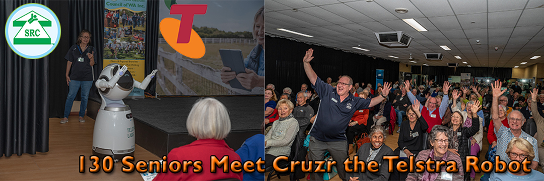 130 Seniors Meet Telstra's Cruzr the Humanoid Robot