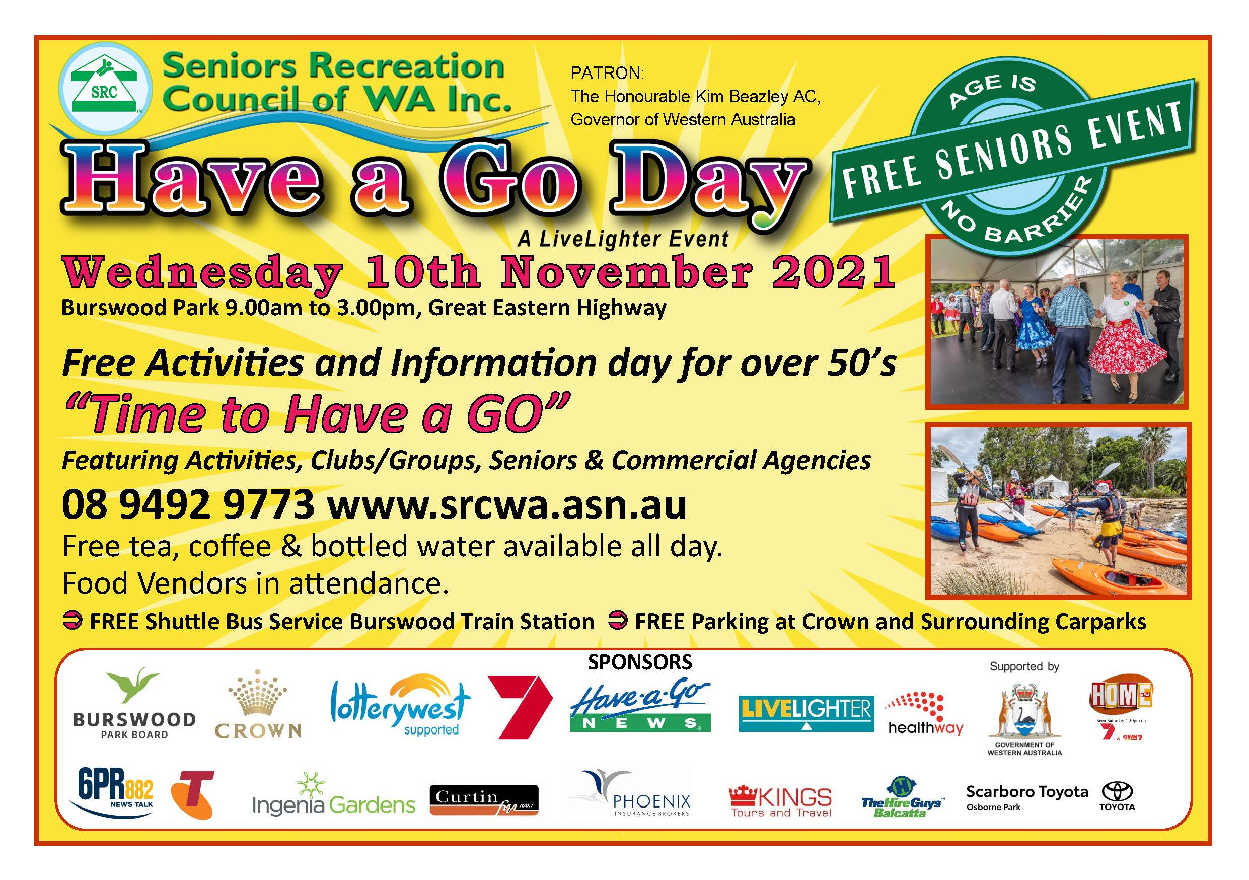 Have a Go Day 2021 a LiveLighter Event  Lists of Activities Now Available
